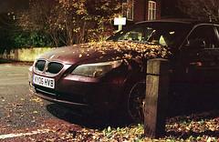 Nacht Reiter (I AM JAMIE KING) Tags: kodak kodakportra800 portra800 night autumn bmw car hull 35mmfilm analogue humbersidenights canon1v 50mm theavenues