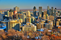 Montreal Downtown (evanlochem) Tags: historic architecture montreal quebec canada november autumn fall city buildings belvedere kondiaronk lookout mount royal park skyline viewpoint