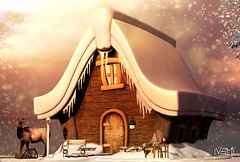 In the frosty air (Varosh Santanamiguel - MR SL ♛ AUSTRIA) Tags: enchantment event eventexclusive exclusive frost frosty ice cold frozen snow snowflake home house hut nature animal winter wonderland christmas xmas mesh bento original design sun sunbeam sunshine snowing fireplace mrs cartoon colorful art passion fire secondlife secondnature linden kunst store shop maitreya animesh deer areiyon vsm