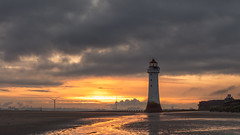 New Dawn At New Brighton (RD400e) Tags: canon eos 5dsr 2470l f28 gitzo leefilters06hng bwpolariser sunrise lighthouse liverpooldocks liverpool perchrock sand reflections outdoors water seascape sea sky newbrighton