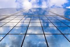 Reflets (LouMaxx) Tags: building architecture ciel sky blue bleu cloud nuage reflection carré square abstract lines lignes