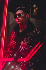 2222 (bake.photo) Tags: neon cali street portrait under model glass luces red photo goodtrip