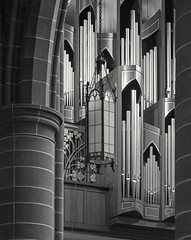 Father forgive (L@nce (ランス)) Tags: church pipe organ cathedral victoria britishcolumbia canada monochrome bw
