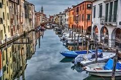 Ponte (giannipiras555) Tags: ponte canale chioggia barche riflessi città mare chiesa cielo italia veneto venezia colori nuvole nikon