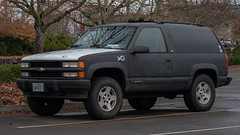 Chevrolet C/K Blazer (mlokren) Tags: 2019 car spotting photo photography photos pic picture pics pictures pacific northwest pnw pacnw oregon usa vehicle vehicles vehicular automobile automobiles automotive transportation outdoor outdoors gm general motors chevy chevrolet ck blazer suv black rue o