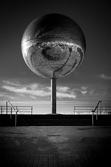 Mirror Ball (aidy14) Tags: blackpool beach lancashire sea seaside mirror sculpture