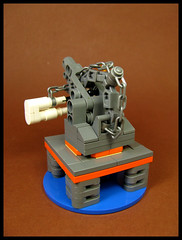 The Little Crane that Could (Karf Oohlu) Tags: lego moc microscale crane derek hoist platform