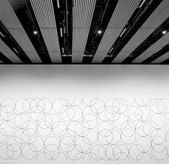 Bridget Riley at the Hayward Gallery (neil mp) Tags: bridgetriley haywardgallery opart gallery exhibition southbank southbankcentre art london monochrome bnw blackandwhite compositioncircles4 circles curves