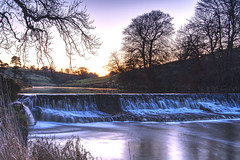The Weir at Craig Bridge near Strathaven - another view from Sunday evening (ALANSCOTT1) Tags: avonwater craigdam longexposure warerfall weir strathaven lanarkshire scotland cold frosty sunset hdr