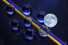 Moire, Moon and some refraction (superdavebrem77) Tags:
