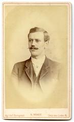 . (Kaïopai°) Tags: vintage cdv cartedevisite cartedevisit portrait portraiture face herr mann mon homme hombre mustache beaard