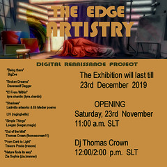 ARTISTRY Exhibition at THE EDGE Art Gallery (Ladmilla) Tags: art artexhibition exhibition paintings photos photography digitalart gallery artgallery theedgeartgallery sl secondlife artistry poetry poems music dj event party