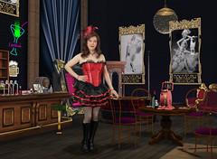 Nouveau Review (Joanne (Hay Llamas!)) Tags: transgender transwoman tg brunette tgirl cute uk brit british britgirl burlesque