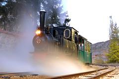 Sesión nocturna. (Tomeso) Tags: mfu locomotora vapor hulla utrillas preservacion patrimonioindustrial aragon spain ok
