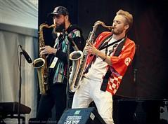 Ruben Fox, Julian Lee (saxsists for the Shakes); Montreal Jazz Festival. (FIJM 2019, Day 4) (tmr_flickr2009) Tags: 2019 artist bassist bass blues canada city concert concertphotography culture dance entertainment fijm fijm2019 festival instrument jazz michaelmwenso montreal montrealjazzfestival june julianlee music musicians performance people performingarts rubenfox shakes sax saxophone tomros ©tomros worldmusic p1200455