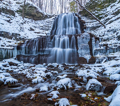 Sherman Falls After Snowfall (antonfalco2) Tags: hamilton ontario waterfall waterfalls tranquil serenity trees canada green landscape nature blue fall landscapes weather stream rapids waterflow photograph sunset lovely awesome river water tree rock grass creek world sky people wood golden hours long exposure art hiking park forest summer spring light new autumn foliage outside yellow orange cascade shermanfalls winter