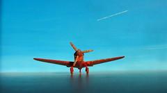 Matchbox Model Kit Curtiss P-40N Warhawk 1-72 1970s : Diorama Futuristic Looking Void - 4 Of 9 (Kelvin64) Tags: matchbox model kit curtiss p40n warhawk 172 1970s diorama futuristic looking void