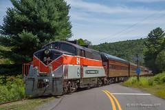 DL&S BL2 #54 @ White Mills, PA (Darryl Rule's Photography) Tags: 2019 august bl2 diesel diesels emd fp7 honesdale pa passenger passengertrain poconos railroad railroads stourbridgeline summer traintrains