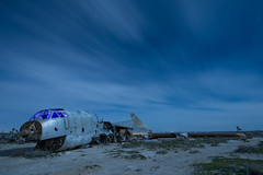 Russian Interference (Nocturnal Kansas) Tags: night nocturnal moon full led1 protomachines d800 nikon desert airplane longexposure lightpainting nightphotography
