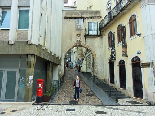 The Arco de Almedina, leading into the old town of Coimbra