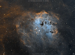IC 410 in Hubble palette (new version) (Salvatore Cozza) Tags: astrometrydotnet:id=nova3758432 astrometrydotnet:status=solved