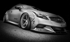 SEKAN (Dave GRR) Tags: infiniti g37 custome custom supercar sportscar modified japanese jdm secanskin libertywalk toronto olympus monochrome mono black white