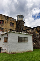 Moundsville Prison Radio (George Neat) Tags: wv westvirginia moundsville state penitentiary prison jail marshall county buildings structures tourism scenic scenery landscapes old historical haunted ghost paranormal georgeneat patriotportraits neatroadtrips