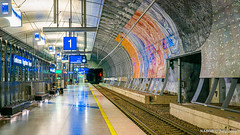 Helsinki, Finland:  Helsinki-Vantaan Airport commuter rail station (nabobswims) Tags: airport commuterrail enhanced fi finland helsingfors helsinki ilce6000 lightroom luminositymasks mirrorless nabob nabobswims photoshop rapidtransit sel18105g sonya6000 station uusimaa vantaan helsinkivantaan