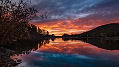 Goldwater Sunset (M@ H) Tags: arizona goldwaterlake lake mountains prescott sunset blue evening forest landscape nationalforest orang vista