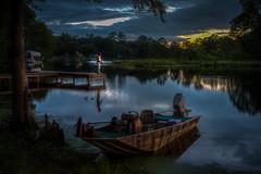 Sunset Fisherman (Brad Prudhon) Tags: 2019 boat chickahominylake dock edallenscampground fishing june lanexa virginia pier sunset