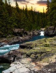 McDonald Creek (Twisted Lens) Tags: mountains montana nikon 2470mm water waterfall rocks tree peace glacier sunrise