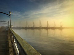 White Rock Pier (danwdotca) Tags: bc landscape nature outdoors whiterock boats clouds dramatic emotion fog lamps mood peaceful picturesque pier sea seaside serene sky spectacular sunset water britishcolumbia canada