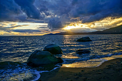 3rd beach Vancouver BC (georgemosna) Tags: sunset beach rocks stanley park