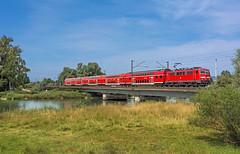 DB 111 226 (maurizio messa) Tags: nikond7100 br111 re4070 mau bahn bayern ferrovia germania germany ponte bridge brücke fluss fiume river treni trains railway railroad isar