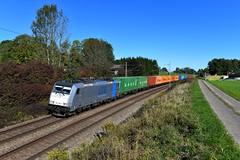 Railpool / LTE 186 298 Vogl (3333n) (christophschneider1) Tags: kbs950 vogl oberbayern büvogl silage bombardier traxx 186 186298 railpool lte ltenetherlandsbv containerzug ganzzug container uasc hapaglloyd dgs41971 d850