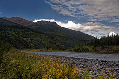 A View of Mount Healy While Walking Along the Shoreline of the Nenana River (Denali National Park & Preserve) (thor_mark ) Tags: alaska2019 alaskarange alaskayukonranges azimuth314 bluesskieswithclouds clouds day4 denalinationalparkpreserve denalinationalparkandpreserve dxophotolab3edited evergreentrees evergreens hillsideoftrees horseshoelaketrail imagecapturewitharsenal landscape lookingnw mounthealy mountainpeak mountains mountainsindistance mountainsoffindistance mountainside nature nenanariver nikond800e outside partlycloudy portfolio project365 ridgeline ridge ridges river riverbank rollinghillsides sunny trees westcentralalaskarange witharsenal alaska unitedstates