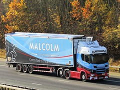 Malcolm Logistics, Scania  (L547) PX18UUF On The A1M Northbound (Gary Chatterton 7 million Views) Tags: malcolmlogistics scaniatrucks px18uuf l547 brookfield trucking wagon lorry haulage distribution logistics transport motorway flickr canonpowershotsx430 photography