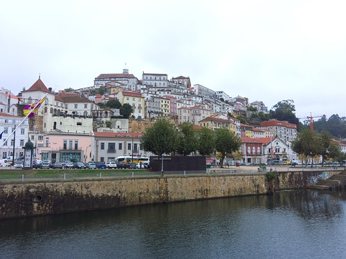 View of Coimbra, crowned by the university