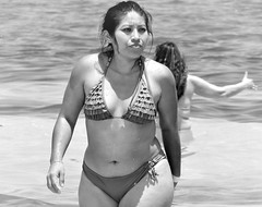Riviera Maya (thomasgorman1) Tags: beach resort travel people woman bw monochrome canon portrait bikini tourism mexico morelos yucatan water shore candid public face