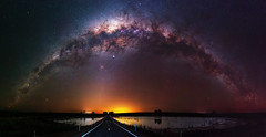 Milky Way at Quairading, Western Australia (inefekt69) Tags: milky way quairading pink lake dead trees panorama stitched mosaic ms ice milkyway cosmology southern hemisphere cosmos western australia dslr long exposure rural night photography nikon stars astronomy space galaxy astrophotography outdoor core great rift ancient sky d5500 landscape nikkor prime wheatbelt 50mm ioptron skytracker hoya red intensifier carina nebulae north america nebula road