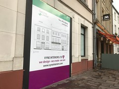 Vyne Interiors Hoarding (Butler Signs UK) Tags: acm external retail construction newbury