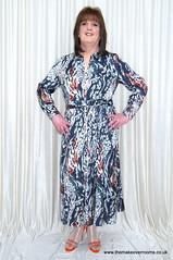My hips are here somewhere (janegeetgirl2) Tags: transvestite crossdresser crossdressing tgirl tv trans jane gee gordon fawcett makeover monsoon silk dress orange high heels ts