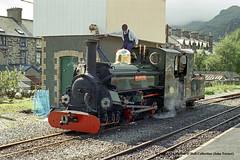 08/09/1997 - Blaenau Ffestiniog (FR), Gwynedd, North Wales. (53A Models) Tags: ffestiniograilway hunslet 240stt blanche narrowgauge steam blaenauffestiniog gwynned northwales train railway locomotive railroad