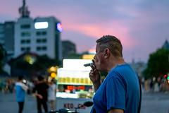 Magenta smoke (Cadicxv8) Tags: street streetphotography people travel night nightphotography cigar man smoking