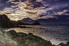 .... and a new Day was born in the Sirens Reef ......, ....y nació un nuevo Día en el Arrecife de las Sirenas...... (Joerg Kaftan) Tags: dawn reef almeria cabodegata colors sky clouds beach sea coast views landscapes spain rocks ribbed amanecer arrecife colores cielo nubes playa mar costa vistas paisajes españa rocas acantalidado