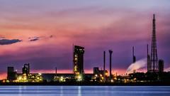 Orica - 2k wallpaper 16x9 DSC00508-5 wm 2k (cleansurf2) Tags: orica industrial landscape longexposure sunset sky color colour coast newcastle australia waterscape sony screensaver ilce night