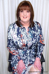 Gordon Fawcett Makeover (janegeetgirl2) Tags: transvestite crossdresser crossdressing tgirl tv trans jane gee gordon fawcett makeover monsoon silk dress peeking slip ts