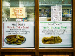 Leeds 057 (Peter.Bartlett) Tags: ricohgr urban shopfront window uk menu unitedkingdom peterbartlett cafe shopwindow sign city westyorkshire colour leeds england