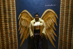 DSC_9787 Sarah from Uganda Redemption Angel Wings Portrait Shoreditch Artwork Old Street London (photographer695) Tags: sarah from uganda redeemption angel wings portrait shoreditch artwork old street london redemption