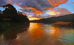 PATAGONIA (Jacques Rollet (Little Available)) Tags: patagonia couchant sunset ciel cloud nuage sky rivière water eau bateau boat river